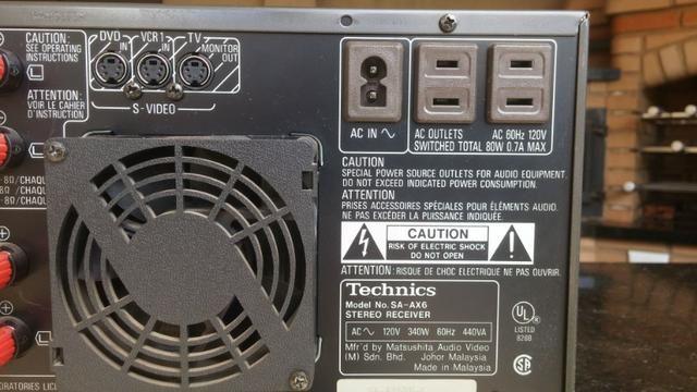 Conjunto receiver Technics Sa-Ax6 e Technics Sl-Mc7 - Foto 4