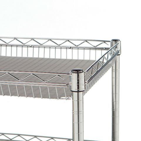 Carrinho Aço Multi Utilitário 3 prateleiras c/ Rodas e Trava - Foto 5