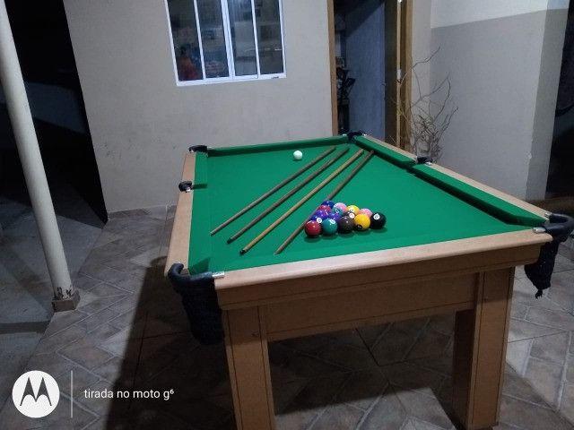 Mesa Tentação Carlin Cor Cerejeira Tecido Verde Mod. JPWQ9462 - Foto 3