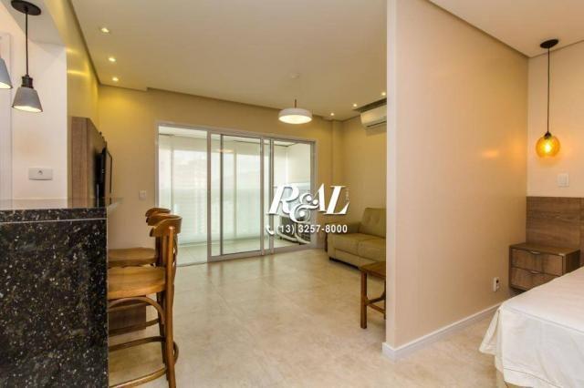 Apartamento com 1 dormitório para alugar, 53 m² por R$ 3.200,00/mês - Ponta da Praia - San - Foto 2