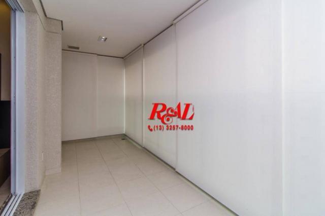 Apartamento com 1 dormitório para alugar, 53 m² por R$ 3.200,00/mês - Ponta da Praia - San - Foto 6