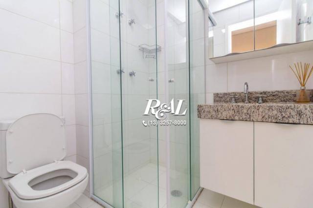 Apartamento com 1 dormitório para alugar, 53 m² por R$ 3.200,00/mês - Ponta da Praia - San - Foto 20