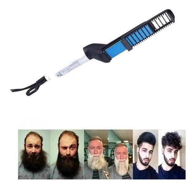 Pente Elétrico Chapinha Modelador Alisador De Barba E Cabelo