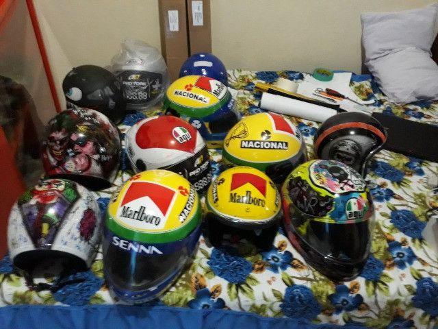 Vendo capacetes personalizados - Foto 6