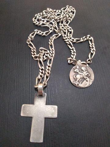 Corrente de prata c/ pingentes