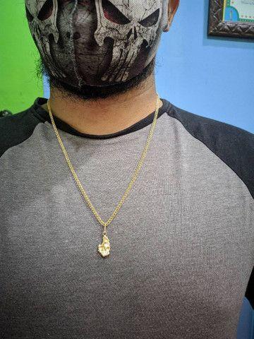 Cordão de prata banhado a ouro - Foto 3