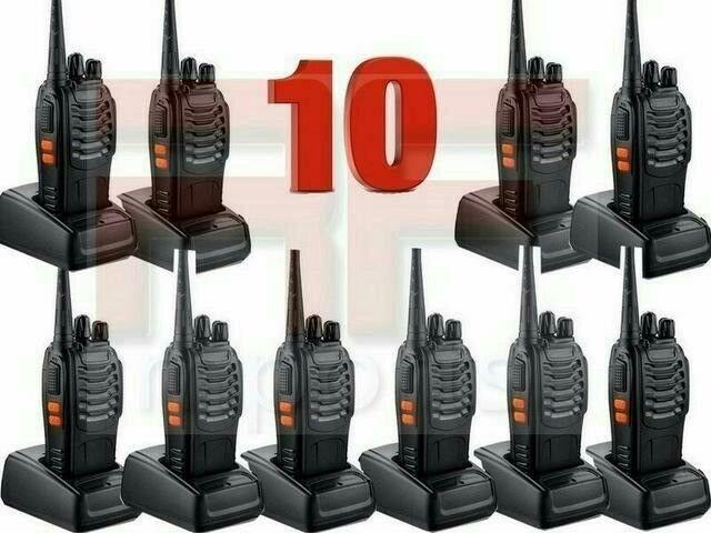 KIT 10 Unidade Rádio Comunicador Baofeng WalkTalk bf-777s