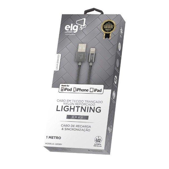 Cabo homologado Lightning Em Tecido Trançado - ELG