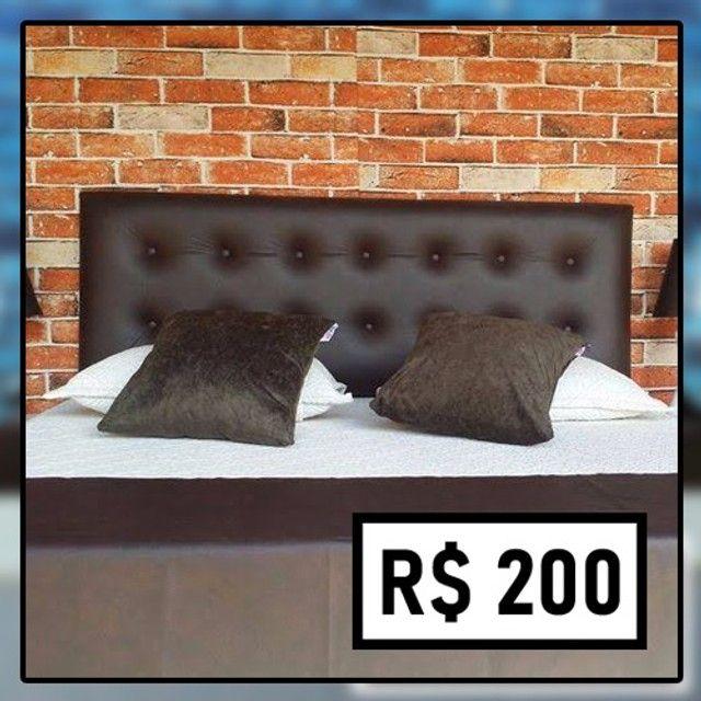 Promoção Relâmpago! Cabeceira Casal (de R$ 280 por apenas R$ 200)