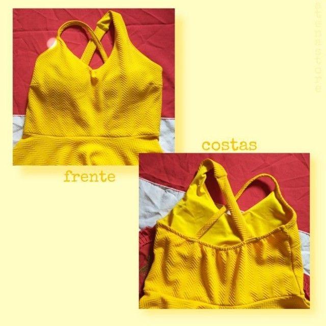 vestido amarelo rodado - Foto 2