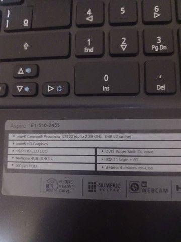 Notebook Acer Aspire E1-510 Intel 4gb 500gb 15.6 Windows 10 - Foto 4