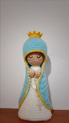 Nossa Senhora de crochê/amigurime