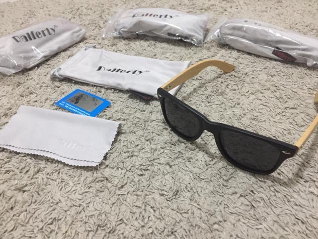 Somente hoje e amanhã Oculos Sport haste em bambu lente polarizada - Foto 2
