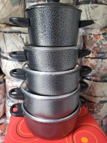 Panela craqueadas alumínio - Foto 2