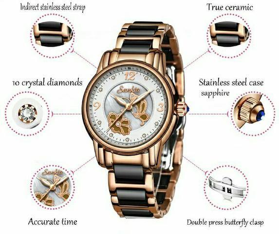 Relógio feminino Sunkta - Foto 3
