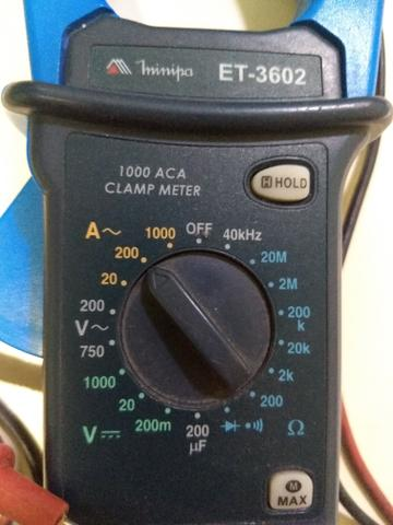 Amperímetro marca Minipa, modelo ET-3602 - Foto 3