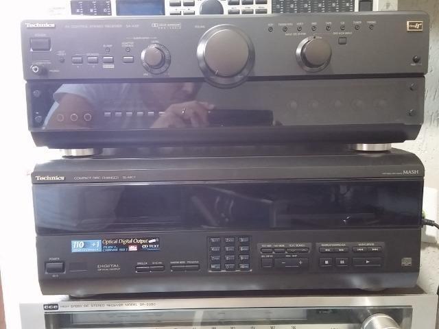 Conjunto receiver Technics Sa-Ax6 e Technics Sl-Mc7 - Foto 2