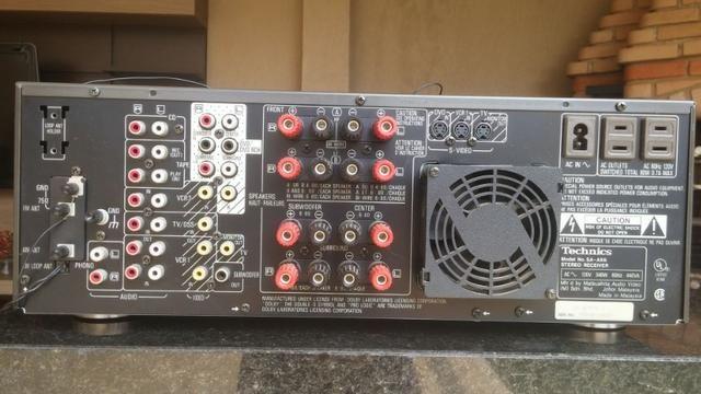 Conjunto receiver Technics Sa-Ax6 e Technics Sl-Mc7 - Foto 3