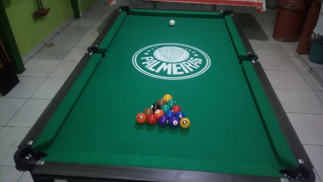 Mesa Charme de 4 Pés Cor Dakar Tecido Verde Logo Palmeiras Mod. TZFP8921 - Foto 3
