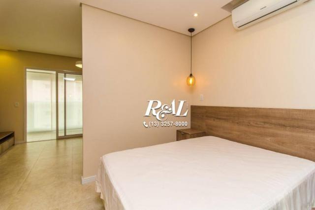 Apartamento com 1 dormitório para alugar, 53 m² por R$ 3.200,00/mês - Ponta da Praia - San - Foto 12