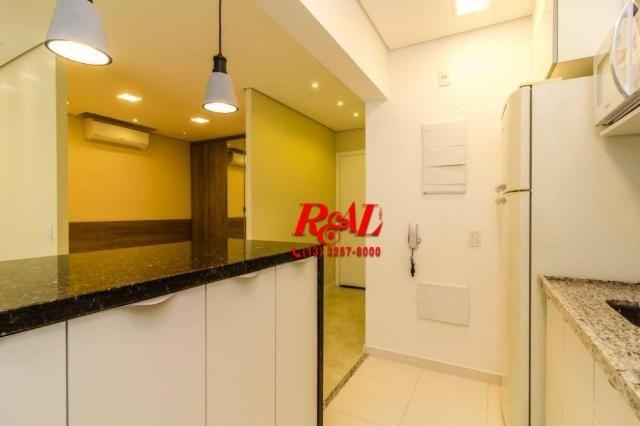 Apartamento com 1 dormitório para alugar, 53 m² por R$ 3.200,00/mês - Ponta da Praia - San - Foto 18
