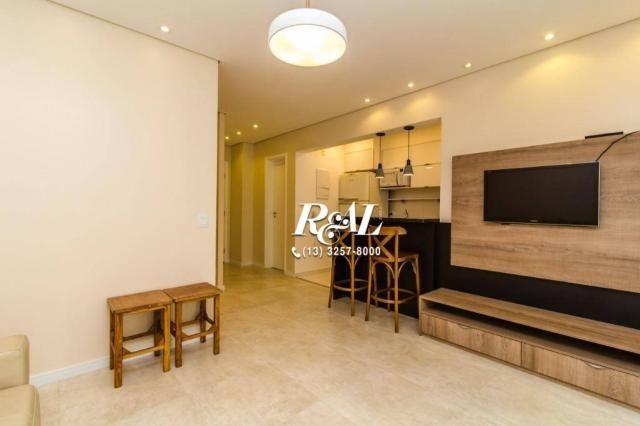Apartamento com 1 dormitório para alugar, 53 m² por R$ 3.200,00/mês - Ponta da Praia - San - Foto 5