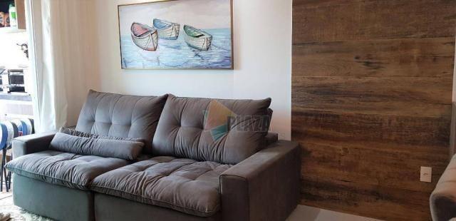 Apartamento com 2 dormitórios para alugar, 76 m² por R$ 3.000,00/mês - Tupi - Praia Grande - Foto 12
