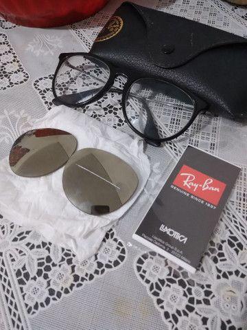 Armação de óculos de grau, com lentes solar. - Foto 2