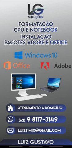 Formatação Notebook e CPU