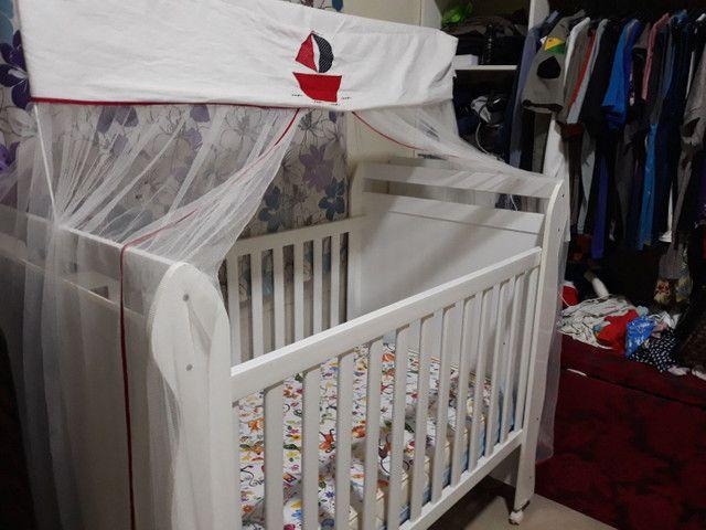 Vendo Berço minicama carolina c/ carrinho bebê Galzerano - Foto 2