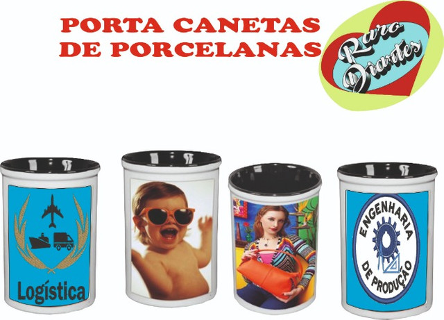 Porta Caneta/lápis Cerâmica Personalizado C/ Foto Da Família