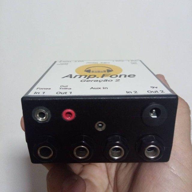 Amplificador de fones Estéreo GERAÇÃO 2 ideal para LIVES E GRAVAÇÕES.  ( Power click ) - Foto 2