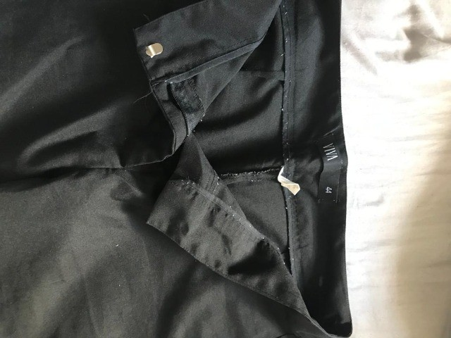 bermuda social feminina cintura alta alfaiatada preta - Foto 5