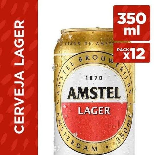 Cerveja Amstel Langer Lata 350ml - Foto 2