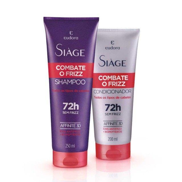 Kit Siàge Combate O Frizz Shampoo + Condicionador Eudora