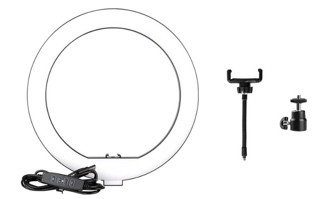 Ring Light Led Iluminador 26cm + Tripé 2.10 Metros Completo - Foto 3