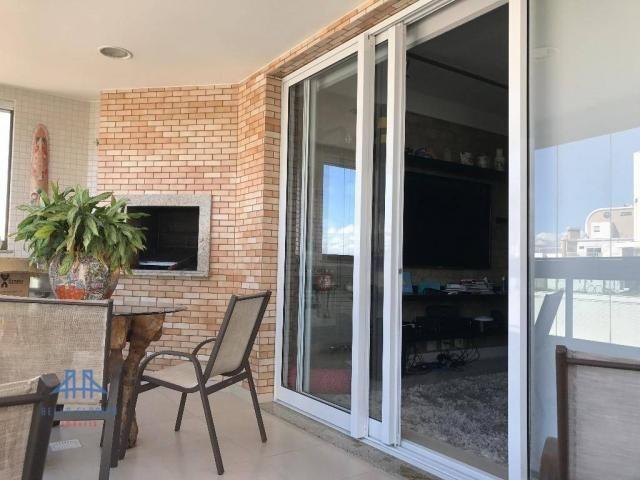 Amplo apartamento mobiliado no joão paulo com linda vista para o mar, 3 suítes, sacada e 3 - Foto 4