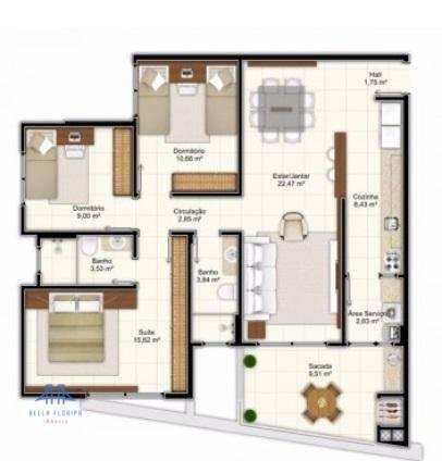 Apartamento de 3 dormitórios no campeche - Foto 5