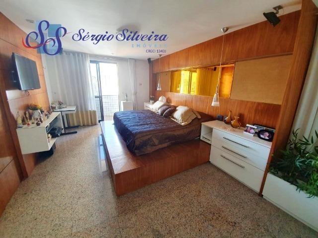 Apartamento na Aldeota com 4 suítes todas com closet, amplo e ventilado, nascente 4 vagas - Foto 8