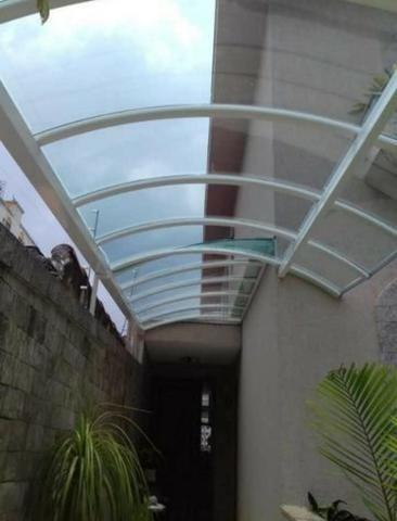 Toldo telhado em Policarbonato ferro sanduicterícia Grades estrutura de ferro em geral - Foto 2