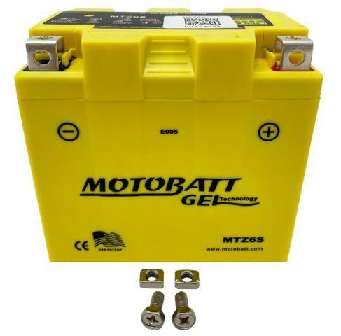 Bateria 100% Gel Motobatt Mtz6s 6ah Nxr Bros 150 2009/. 160 Cg 125/150 Fan 2009/.