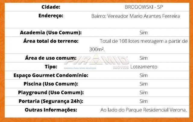 Terreno à venda em Vereador mario arantes ferreira, Brodowski cod:V150674 - Foto 12