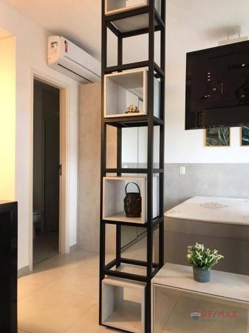 Apartamento com 1 dormitório para alugar, 40 m² por R$ 1.800,00/mês - Jardim Tarraf II - S - Foto 12