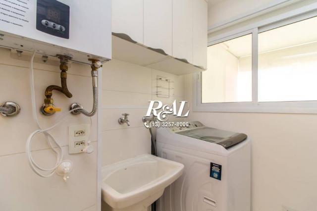 Apartamento com 1 dormitório para alugar, 53 m² por R$ 3.200,00/mês - Ponta da Praia - San - Foto 19