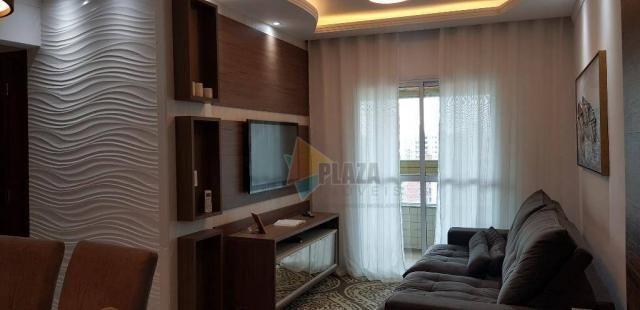 Apartamento com 2 dormitórios para alugar, 76 m² por R$ 3.000,00/mês - Tupi - Praia Grande