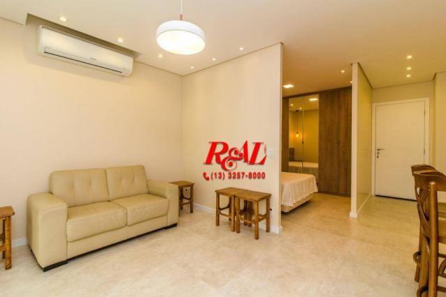 Apartamento com 1 dormitório para alugar, 53 m² por R$ 3.200,00/mês - Ponta da Praia - San - Foto 9