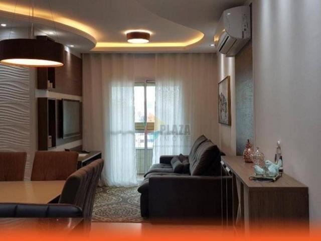 Apartamento com 2 dormitórios para alugar, 76 m² por R$ 3.000,00/mês - Tupi - Praia Grande - Foto 4