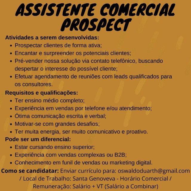 Assistente Comercial Prospect - Foto 2