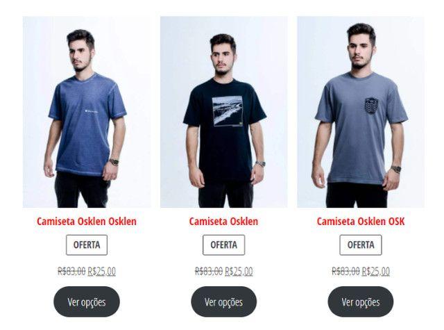Camisetas Originais com 70% de desconto (Black November) - Foto 3
