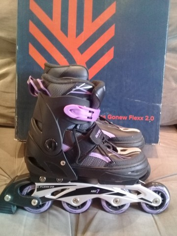 Vendo dois patins gonew Flexx 2.0 são patins profissionais. Valor 150,00 cada - Foto 3